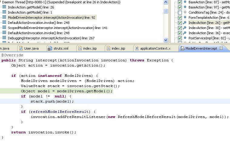 Struts2 setModel