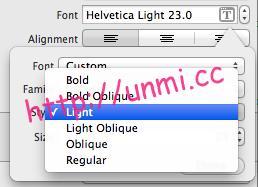 xcode-helvetica-fonts