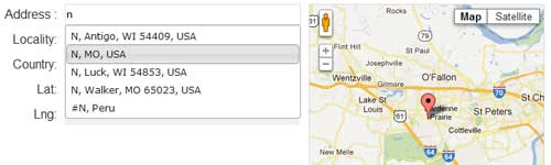 Address Picker: Display Real Time Map Location in jQuery