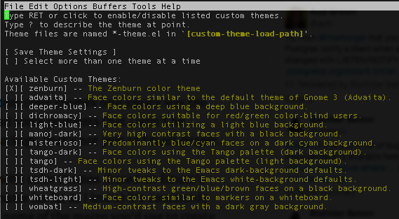 emacs-cutomize-theme