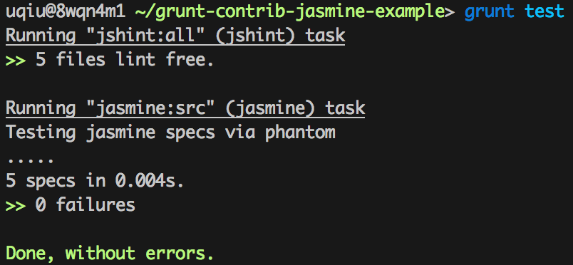 grunt-jasmine-test-console