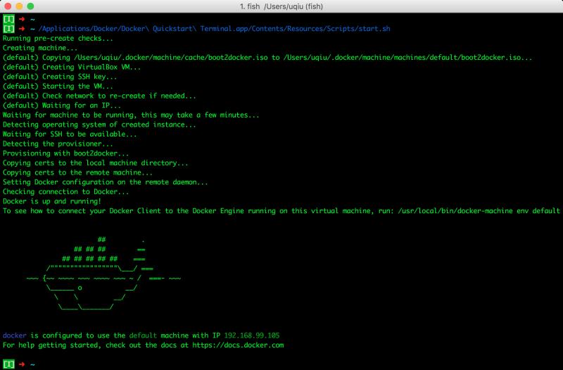 Docker Quickstart Init