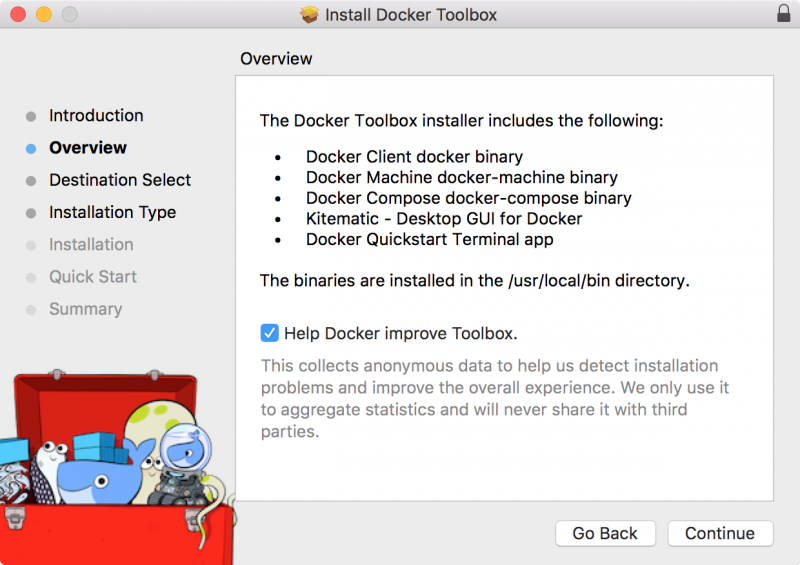 Docker Toolbox includings